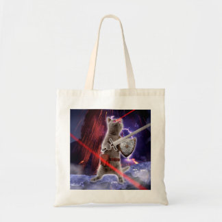 warrior cats - knight cat - cat laser tote bag