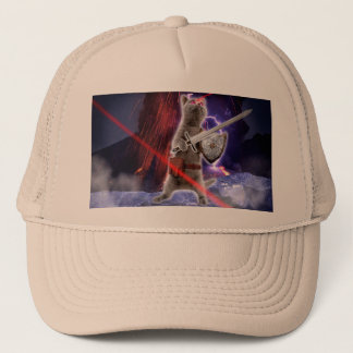 warrior cats - knight cat - cat laser trucker hat