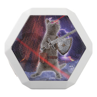 warrior cats - knight cat - cat laser white bluetooth speaker