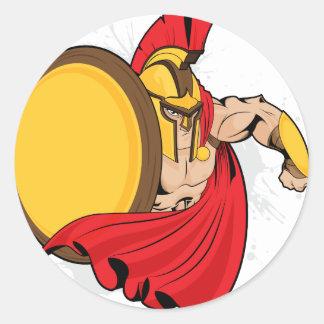 Warrior Classic Round Sticker