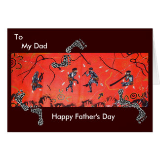Warrior Corroboree with Poem Greeting Card
