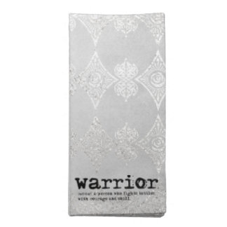 Warrior Definirion Napkin