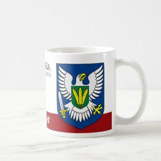 Warrior Eagle with Sword from Viljandi Estonia Coffee Mug