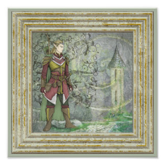 Warrior Elf Guarding The Steeple Photo Art
