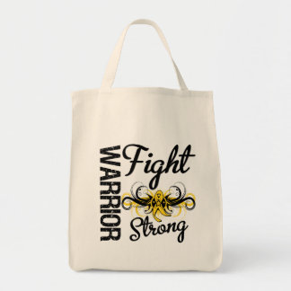 Warrior Fight Strong Sarcoma Cancer Grocery Tote Bag