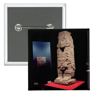 Warrior, from the Toltec Culture 15 Cm Square Badge