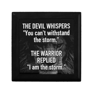 Warrior - I Am The Storm - Lion Beast Motivational Gift Box