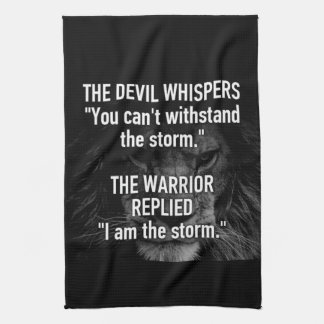Warrior - I Am The Storm - Lion Beast Motivational Tea Towel