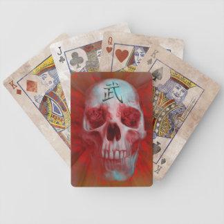 Warrior Kanji skull Bicycle Playing Cards