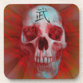 Warrior Kanji skull Coaster