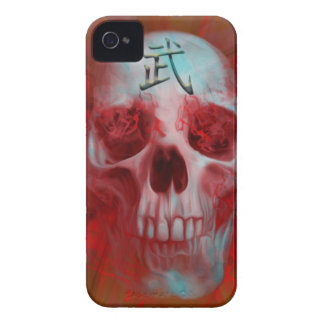 Warrior Kanji skull iPhone 4 Cases
