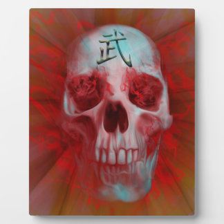Warrior Kanji skull Plaque