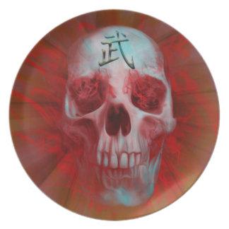Warrior Kanji skull Plate