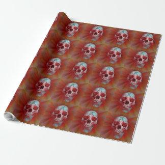 Warrior Kanji skull Wrapping Paper