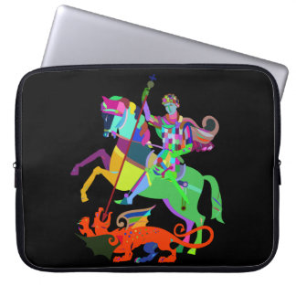 Warrior Kills a Dragon Laptop Sleeve
