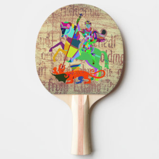 Warrior Kills a Dragon Ping Pong Paddle