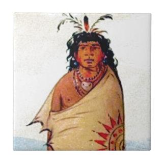 warrior male ceramic tile