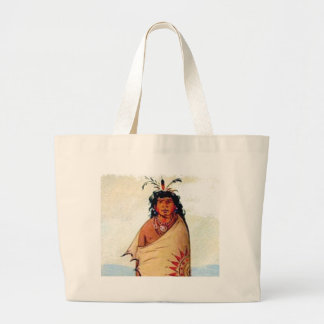 warrior male large tote bag