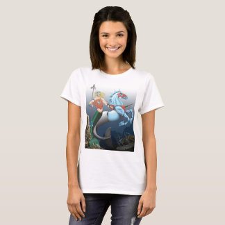 Warrior Merman Fantasy Art Illustration shirt