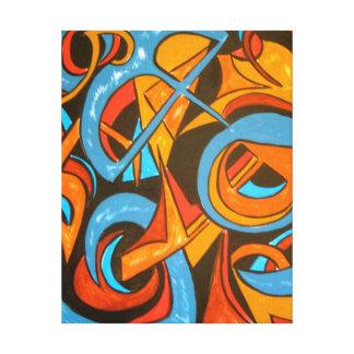 Warrior One Yogi-Abstract Art Hand Painted Canvas Print