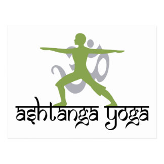 Warrior Pose Ashtanga Yoga Gift Postcard