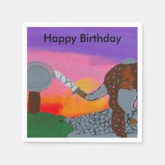Warrior Princess Birthday Napkins Paper Napkins