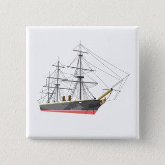 Warrior ship 15 cm square badge
