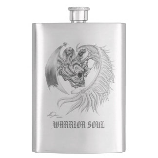 WARRIOR SOUL flask (stainless-steel shine)