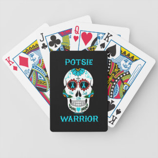 Warrior/Sugar skull...P.O.T.S. Bicycle Playing Cards