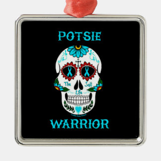 Warrior/Sugar skull...P.O.T.S. Metal Ornament
