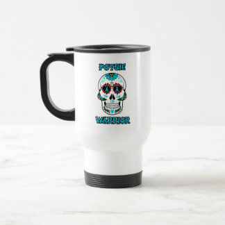 Warrior/Sugar skull...P.O.T.S. Travel Mug