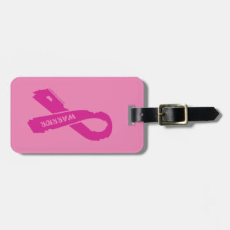 Warrior/ torn ribbon...Breast Cancer Luggage Tag