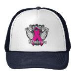 Warrior Vintage Wings - Breast Cancer v2 Cap