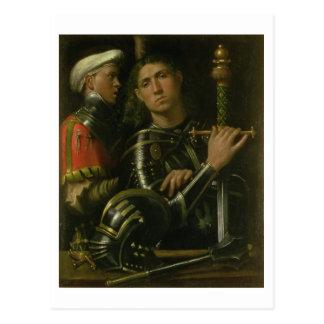 Warrior with Groom (oil) Postcard