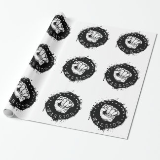 warrior wrapping paper