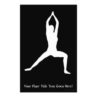 Warrior Yoga Pose Silhouette Flyer