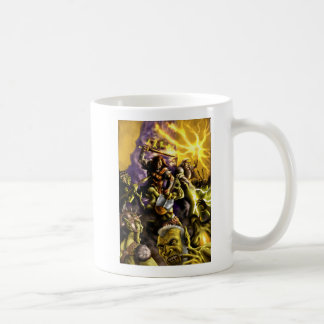 Warriors and Wizards Fantasy Characters Battle Coffee Mug
