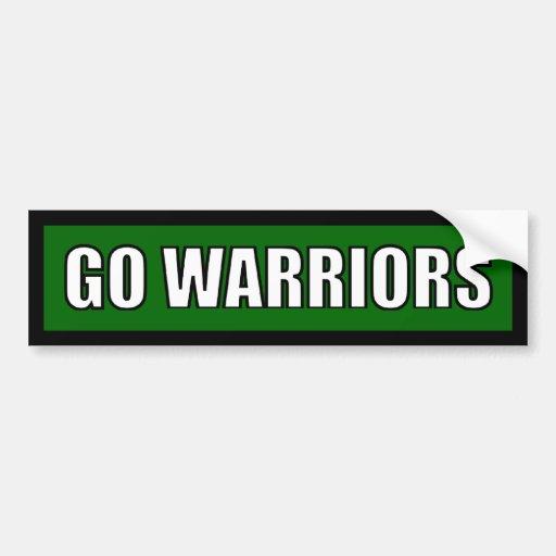 Warriors - Black Green White Bumper Stickers