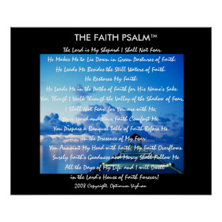 WarriorsCreed Faith Psalm Water Dock Posters