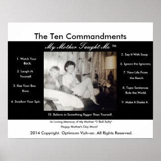 WarriorsCreed Ten Commandments My Mother Taught Me Poster