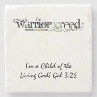 WarriorsCreed Tree Toad Logo Marble Stone Coaster