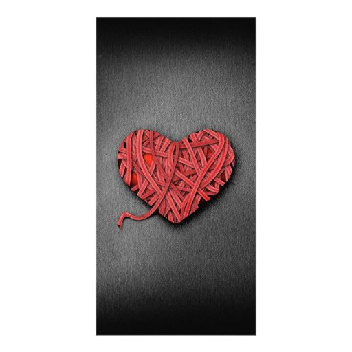 Warrpaed Red Heart Personalized Photo Card