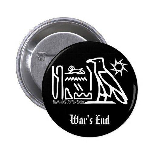 War's End Hieroglyph Goth Button