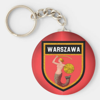 Warsaw  Flag Key Ring