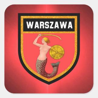 Warsaw  Flag Square Sticker