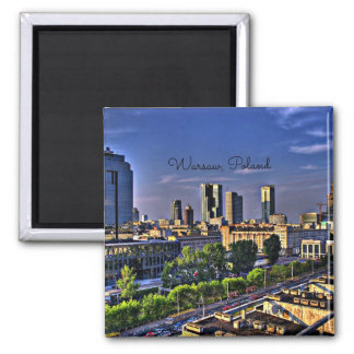 Warsaw, Poland Cityscape Magnet