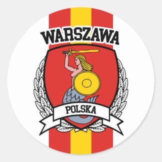 Warsaw Round Sticker