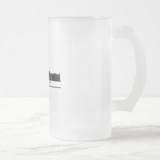 warsaw skyline frosted glass beer mug