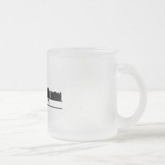 warsaw skyline frosted glass coffee mug