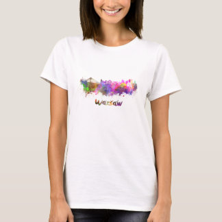 Warsaw skyline in watercolor T-Shirt
